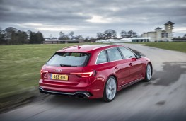 Audi RS4, 2018, rear, action