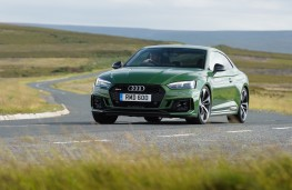Audi RS5, 2018, front, action