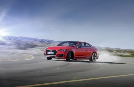 Audi RS 5 Coupe, 2017, side, action