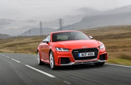 Audi TT RS Coupe, 2016, front, action