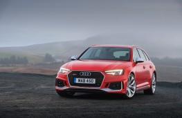 Audi RS 4 Avant, 2018, front, parked