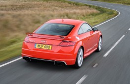 Audi TT RS Coupe, 2016, rear, action