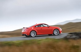 Audi TT RS Coupe, 2016, side, action