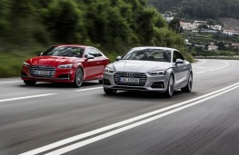 Audi S5 and A5, 2016, front, action