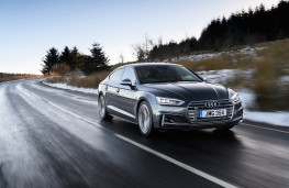 Audi S5 Sportback, 2017, front, action