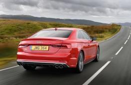 Audi S5 Coupe, 2016, rear, action