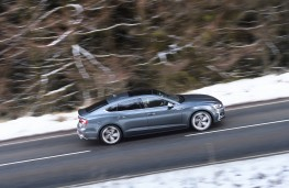 Audi S5 Sportback, 2017, side, action