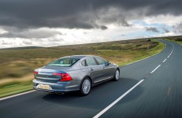 Volvo S90, 2016, rear, action
