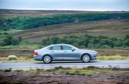 Volvo S90, 2016, side, action