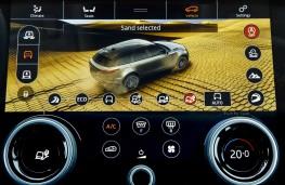 Range Rover Velar, 2017, Sand Mode Terrain Response screen