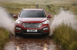 Hyundai Santa Fe, front, action, off road