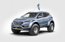 Hyundai Sante Fe, Antarctic expedition, 2016