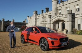Jaguar I-PACE, Scottish Car of the Year with Rowdan Glover, managing director of Jaguar Land Rover UK and John Murdoch (at the w