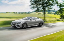 Mercedes-Benz S-Class Coupe, 2017, side, action
