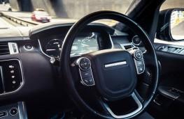 Self Driving Range Rover Sport steering wheel