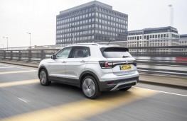 Volkswagen T-Cross SEL, 2019, rear, action