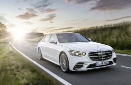Mercedes-Benz S-Class, 2020, front, action