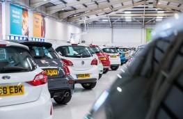 Deserted car showroom
