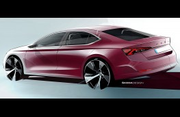 Skoda Octavia 2020 design sketch rear