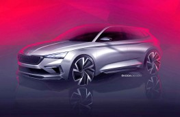 Skoda Vision RS design sketch front