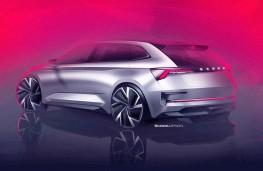 Skoda Vision RS design sketch rear