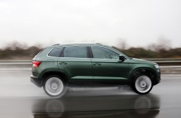 Skoda Karoq, side, action