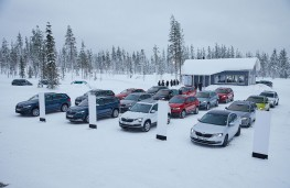 Skoda ice driving, Lapland, vehicles