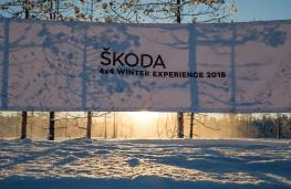 Skoda ice driving, Lapland centre