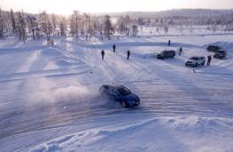 Skoda ice driving, drifting
