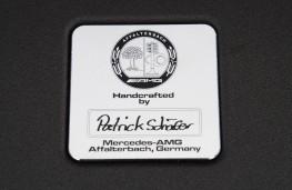 Mercedes SL 63 AMG, engine, plaque