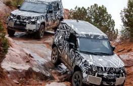 Slippery slopes - new Land Rover Defenders on test