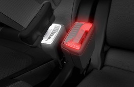 Skoda illuminated seat belt buckle, 2020, pair