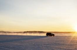 Range Rover Sport SVR, sprint test, snow, speed