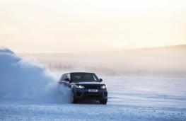 Range Rover Sport SVR, sprint test, snow, front