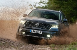 Kia Sorento, 2020, front, off road