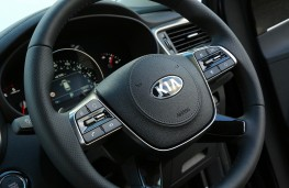 Kia Sorento, 2018, steering wheel