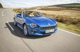 Fiat 124 Spider, 2017, front, action