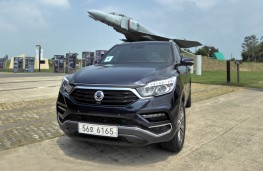 SsangYong Rexton, 2017, with F4 Phantom at DMZ visitor centre