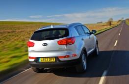 Kia Sportage, rear, action