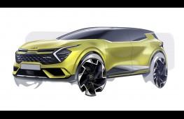 Kia Sportage, 2021, front, sketch