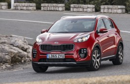 Kia Sportage GT-Line, 2016, front, action