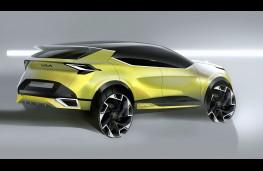 Kia Sportage, 2021, rear, sketch