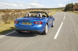 Fiat 124 Spider, 2017, rear, action