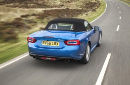 Fiat 124 Spider, 2017, rear, roof up
