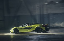 McLaren 600LT Spider, 2019, side, action