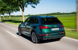 Audi SQ5, 2017, rear, action