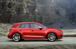 Audi SQ5, 2017, side, action