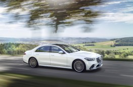 Mercedes-Benz S-Class, 2020, side, action