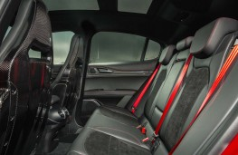 Alfa Romeo Stelvio Quadrifoglio, 2020, rear seats