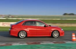 Subaru WRX STI, track, action, side